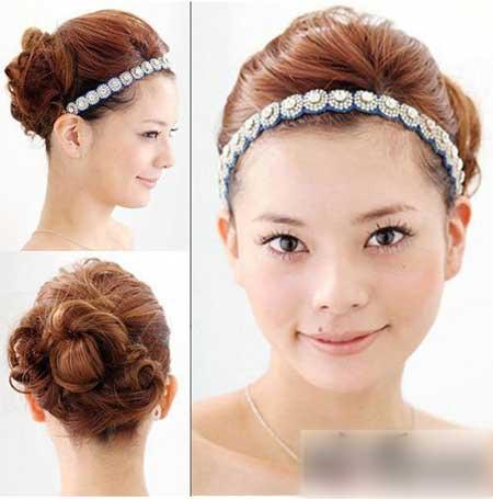 独特气质的新娘发型教程图解