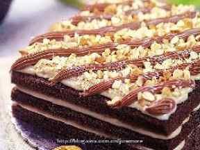 乳酪巧克力方形蛋糕