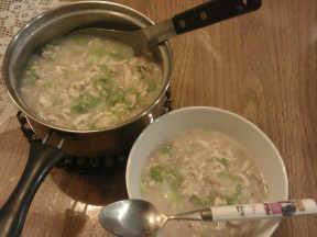 小白菜鸡肉粥【卡特莉的清淡料理】给病孩